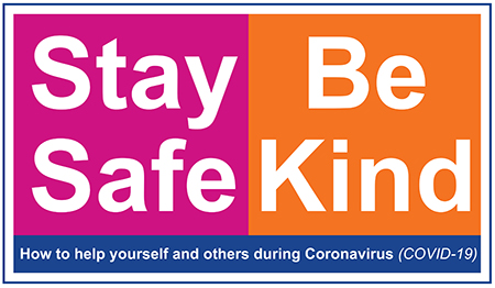 stay safe be kind logo