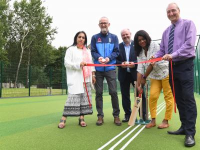 Official opening of the new all weather cricket training nets