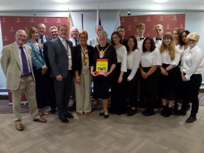 Before departing for their tour, members of the Wolverhampton Music Service's Youth Orchestra and Youth Wind Orchestra performed for Mayor Councillor Claire Darke