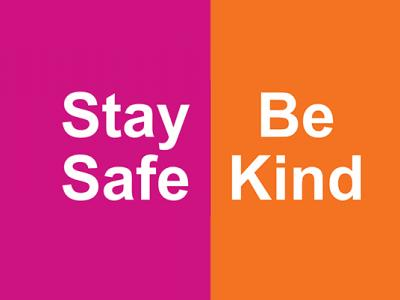 Stay Safe Be Kind header