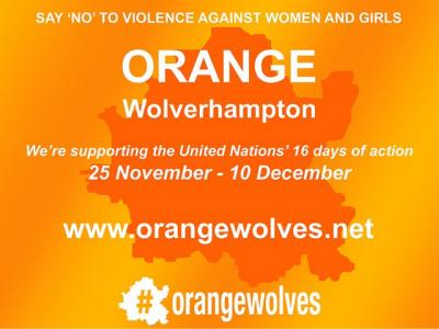 Residents, businesses, schools, faith groups, charities and other organisations are once again being encouraged to 'Orange Wolverhampton' between 25 November and 10 December as the city says 'No' to interpersonal violence