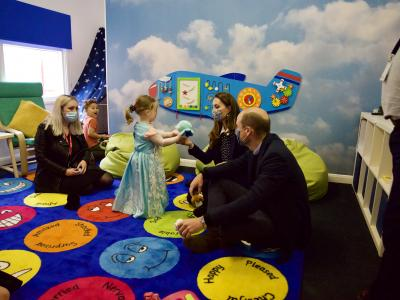 The Duke and Duchess of Cambridge visit city's Base 25