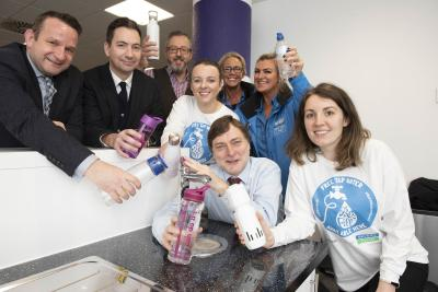Representatives from the City of Wolverhampton Council, Severn Trent and Wolverhampton Business Improvement District are all supporting the Refill scheme, which allows people to fill up reusable water bottles for free