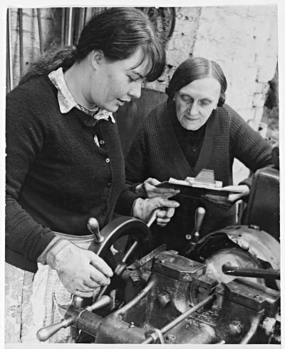 July 22, 1970: Family blacksmiths, Joseph Wyle & Co. in Blackheath was established in 1860. Photograph shows Ellen Beese teaching her daughter Elizabeth as the firm adapted to 20th century techniques – going metric.