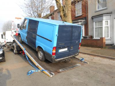 Transit van seized after captured dumping waste in Wolverhampton