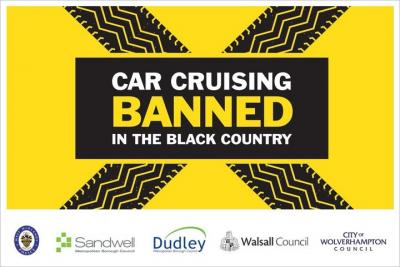 The injunction bans people from taking part in a car cruise anywhere within Wolverhampton, Dudley, Sandwell or Walsall, or from promoting, organising or publicising any such event in the same area