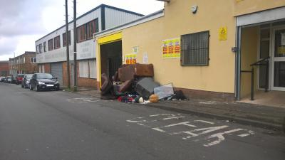 The fly tipping consisted over 20 household items including sofas, car seats, clothing and bagged waste