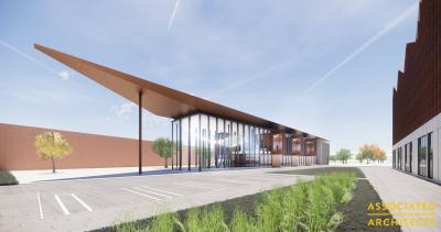 CGI of the National Brownfield Institute, again at the Springfield campus and part of the national centre