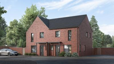 Artist impression of one of the homes that will be available: Elm – 3 bed semi detached house