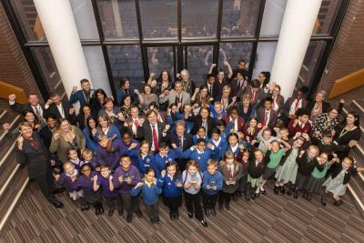 City schools celebrate being awarded the B-Safe anti-bullying charter