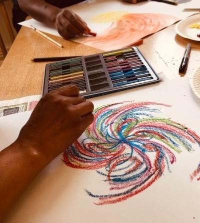 Lotus Sanctuary wellbeing art class