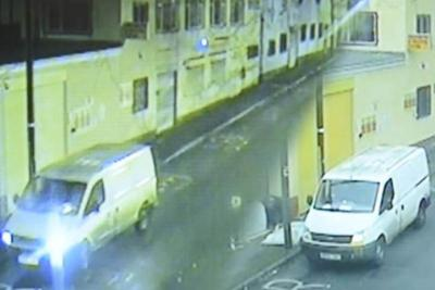White van man caught on CCTV dumping rubbish outside charity shop