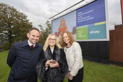 (L-R): City of Wolverhampton Council (CWC) Director of Regeneration, Richard Lawrence, Vita Kreslina, owner of All Happy Customers, and Isobel Woods, CWC Head of Enterprise