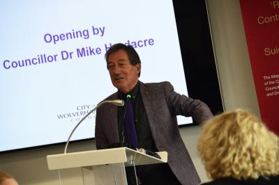 Councillor Dr Michael Hardacre spoke at the launch of The Wolverhampton House Project during National Care Leavers Week