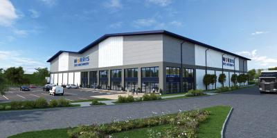 Artist's impression of new Morris Site Machinery development