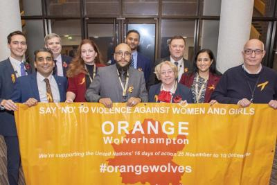 Members of the Conservative Group on the City of Wolverhampton Council are supporting the Orange Wolverhampton campaign to end interpersonal violence