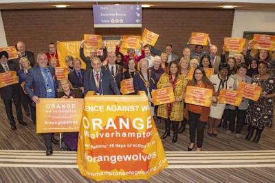 Members of the Labour Group on the City of Wolverhampton Council are supporting the Orange Wolverhampton campaign to end interpersonal violence