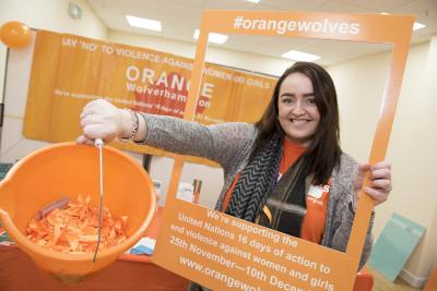 People showed their support for this year's Orange Wolverhampton campaign when they called into the pop-up shop at the Wulfrun Centre
