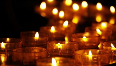 Light a candle to remember a loved one