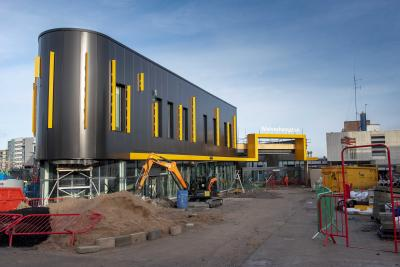 Photos of phase 1 of Wolverhampton's new railway station building close to completion