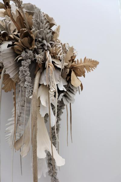 Phoebe Cummings, Source (detail), 2018 Clay, wire  Installation view, Bornholm Kunstmuseum, 2018 ©The artist