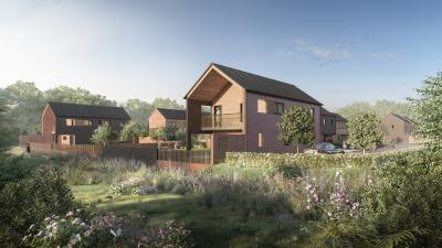 A computer generated image of the new Willow Gardens family homes