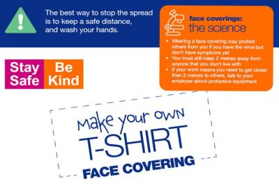 T-Shirt face covering