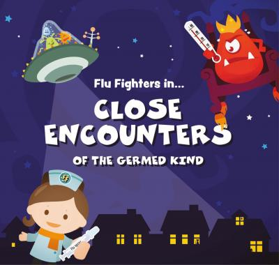 The Flu Fighters will be returning this year to encourage more primary school children to have their free flu vaccine. Pupils will receive a free copy of the third book in the Flu Fighters series, Flu Fighters in Close Encounters of the Germed Kind