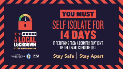 Travellers must self isolate if returning from certain locations