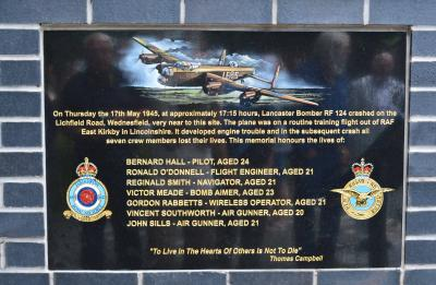 A close-up of the memorial plaque
