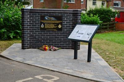 The memorial and information board