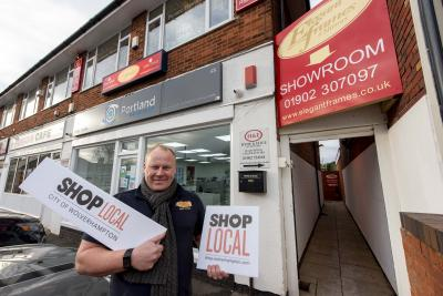 Jay Baso, owner of Elegant Frames and Mirrors in Lichfield Road, Wednesfield