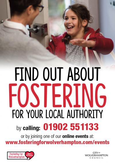 Make a difference by Fostering for Wolverhampton