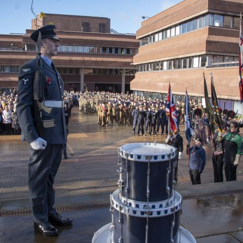 The City's annual Observance of Remembrance will be held on Sunday (10 November, 2019), beginning with a parade led by the Band of the West Midlands Fire Service and comprising detachments of the military past and present and community groups