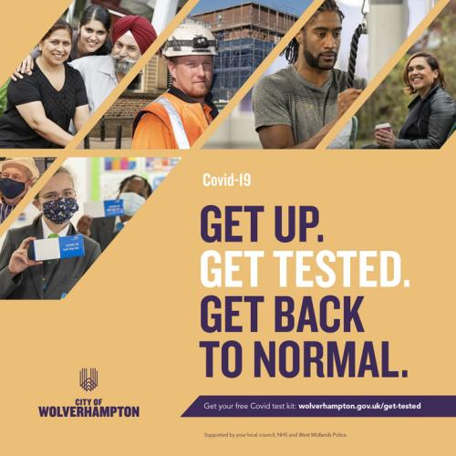 Campaign urges us to Get Up, Get Tested, Get Back to Normal