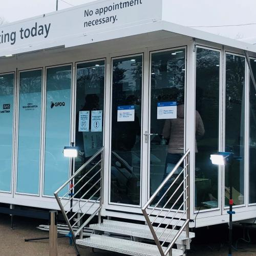 The mobile Covid-19 testing unit is available at Wednesfield Community Hub, Well Lane, this week