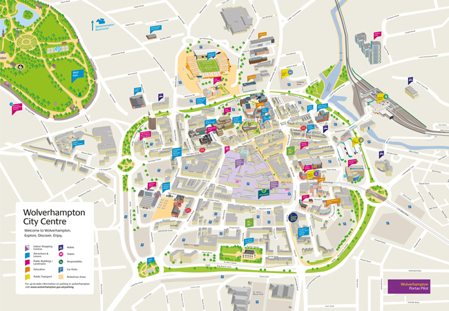 Wolverhampton City Centre Map This link opens in a new browser window
